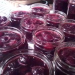 When bing cherries were in season over the summer, I canned 'Christmas Cherries' in a syrup of sugar, cinnamon, cloves, and all spice.  They'll go great with turkey or ham!